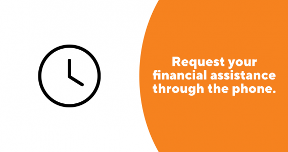 Request your financial assistance online