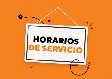 Actualización en horarios de servicio